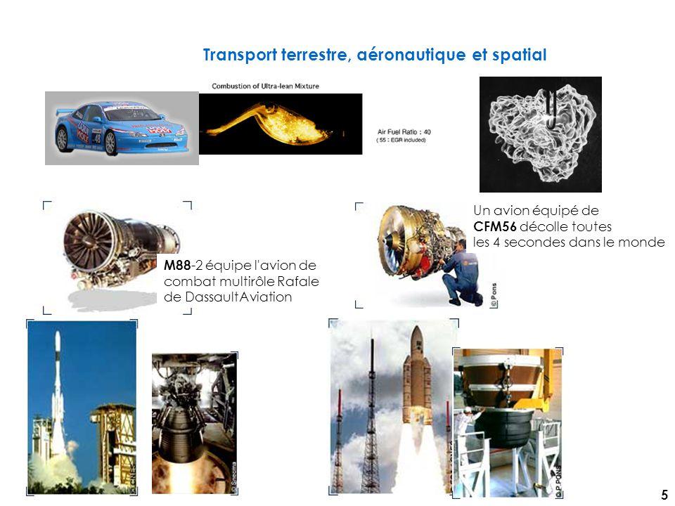 Transport terrestre, aéronautique et spatial M88 -2 équipe l avion de combat multirôle Rafale de DassaultAviation Un avion équipé de CFM56 décolle toutes les 4 secondes dans le monde 5