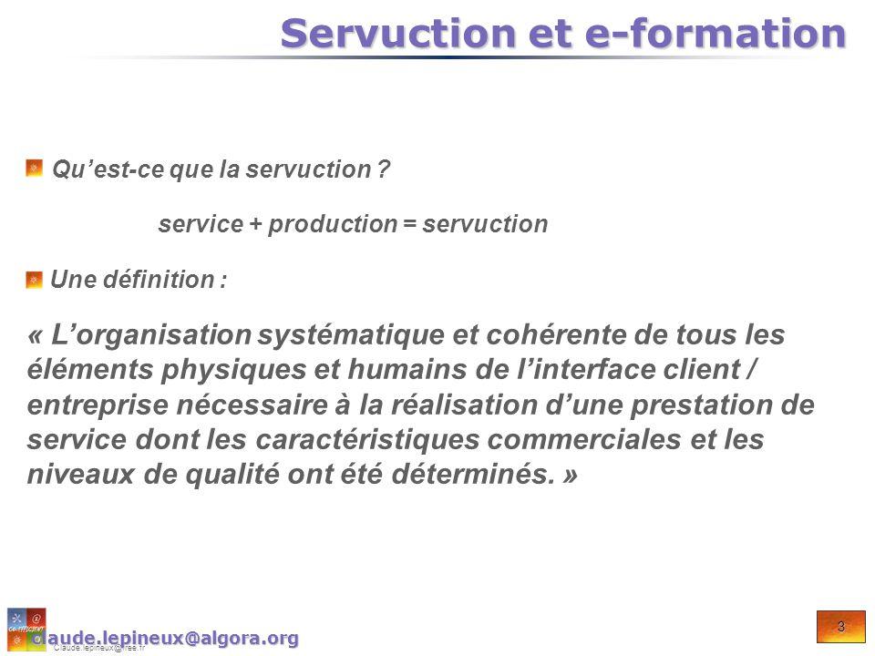 4 Claude.lepineux@free.fr Où et pourquoi cette démarche est-elle appliquée.