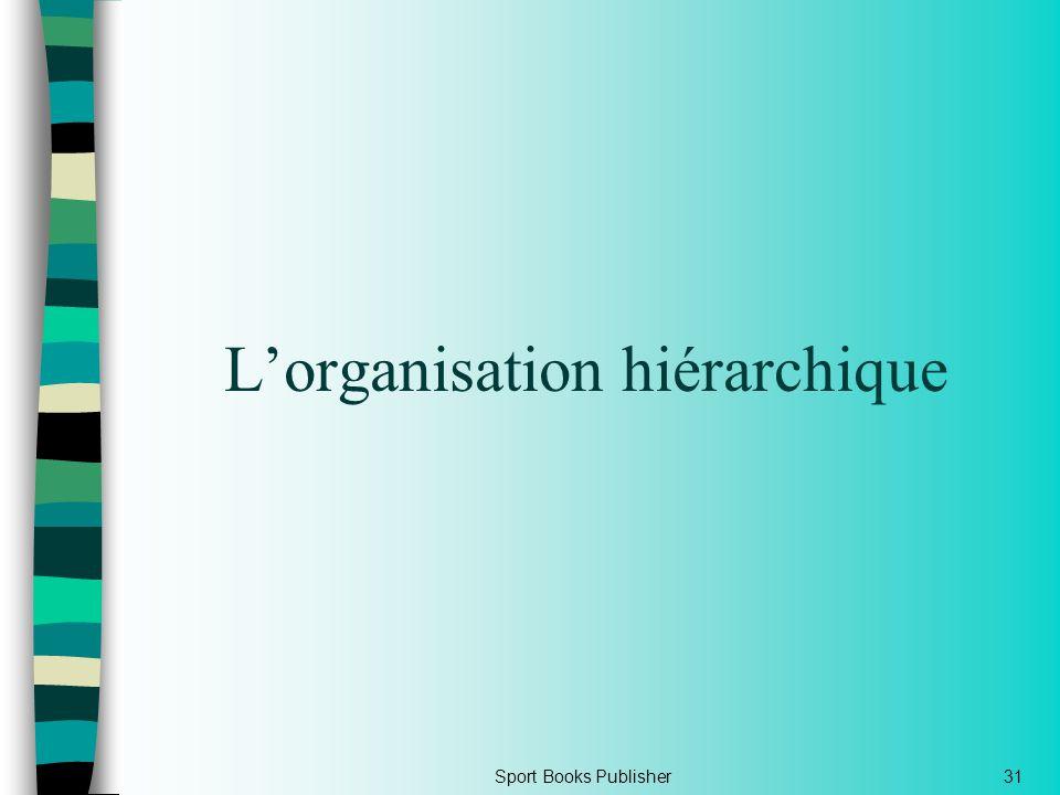 Sport Books Publisher31 Lorganisation hiérarchique