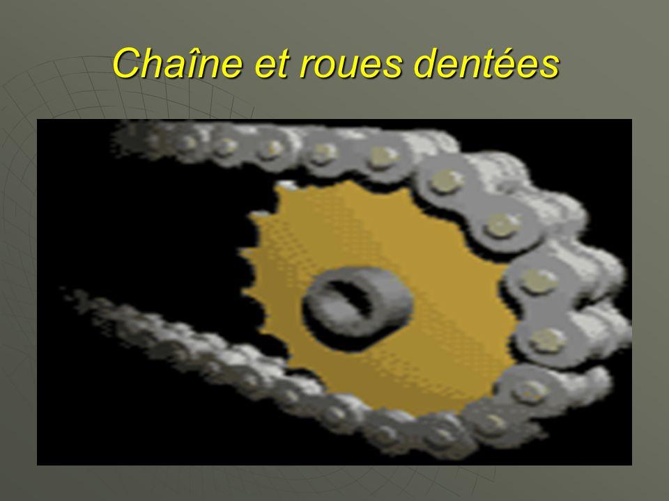 Chaîne et roues dentées