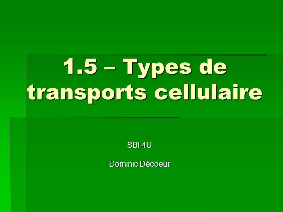 1.5 – Types de transports cellulaire SBI 4U Dominic Décoeur