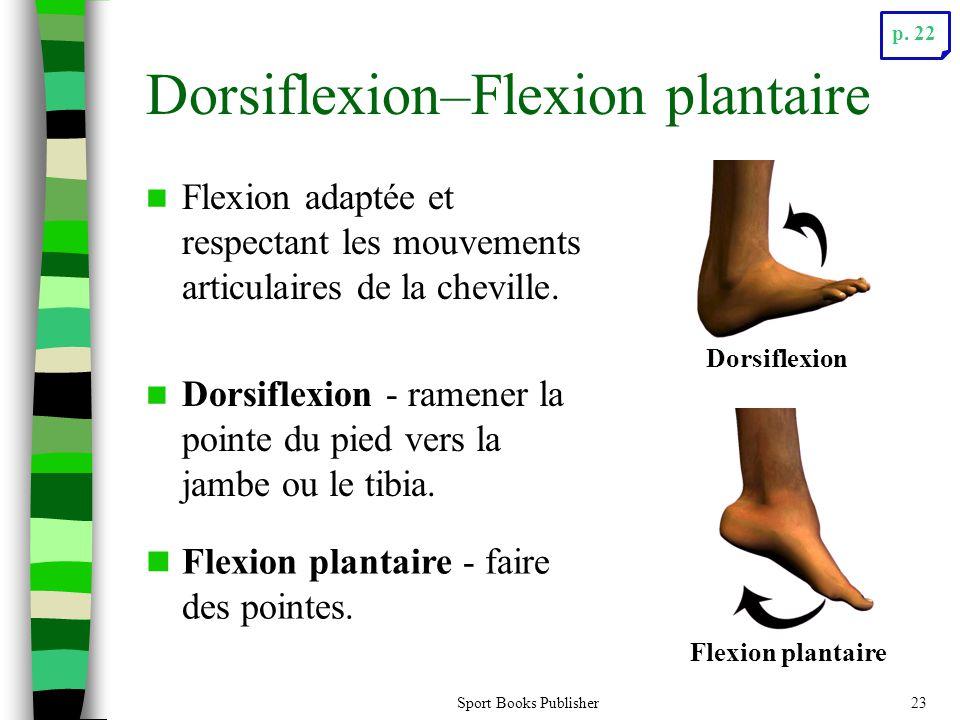 Sport Books Publisher23 Dorsiflexion–Flexion plantaire Flexion adaptée et respectant les mouvements articulaires de la cheville. Dorsiflexion - ramene
