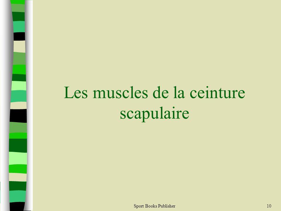 Sport Books Publisher10 Les muscles de la ceinture scapulaire