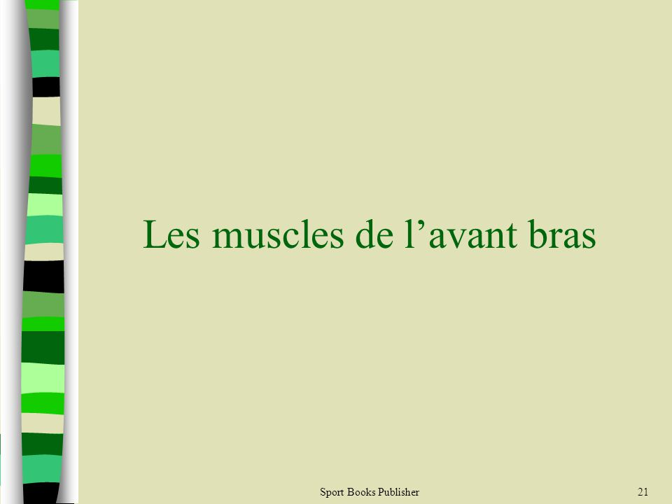 Sport Books Publisher21 Les muscles de lavant bras