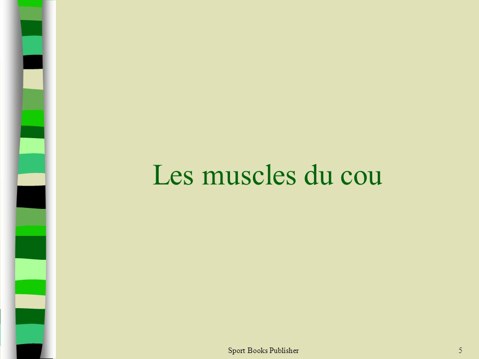 Sport Books Publisher5 Les muscles du cou