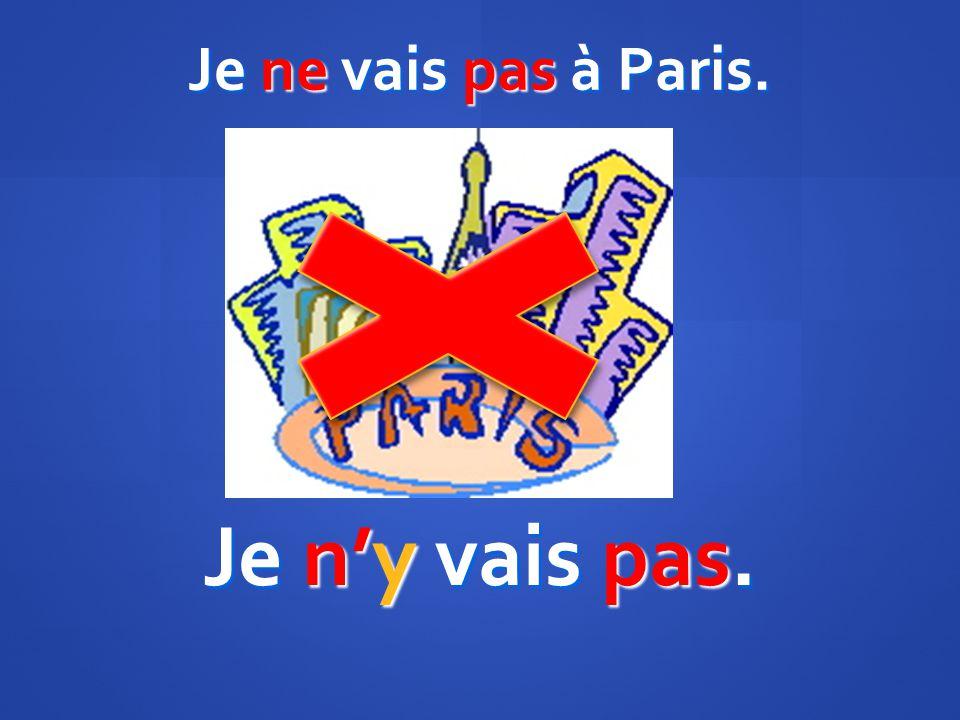 Je ne vais pas à Paris. Je ny vais pas.