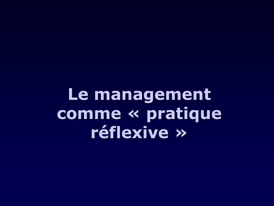 Le management comme « pratique réflexive »
