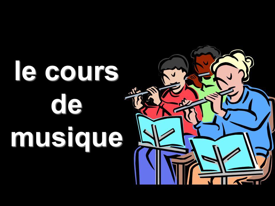 le cours de musique