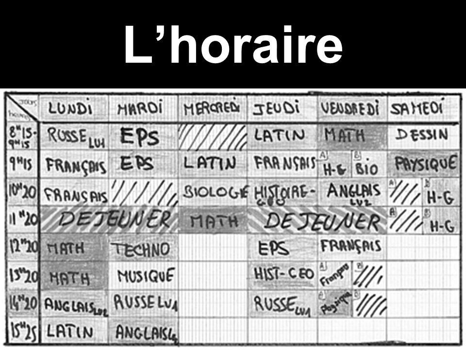 Lhoraire
