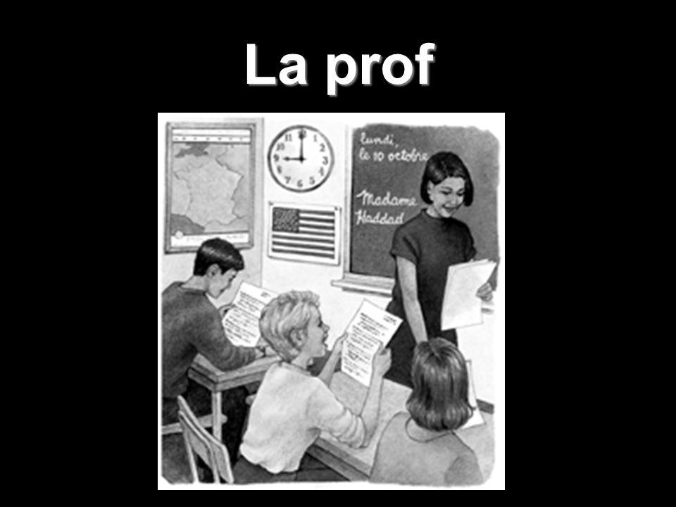 Jaime ma prof de français. Elle nest pas trop stricte. Juste un peu.