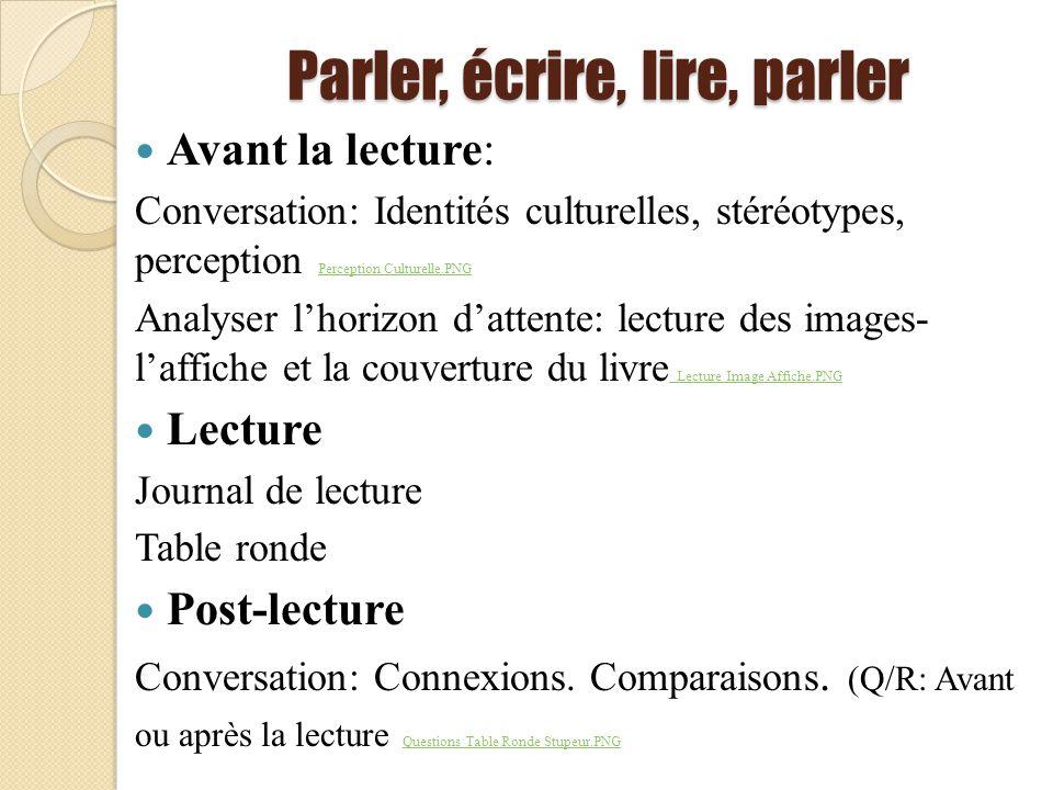 Parler, écrire, lire, parler Avant la lecture: Conversation: Identités culturelles, stéréotypes, perception Perception Culturelle.PNG Perception Cultu