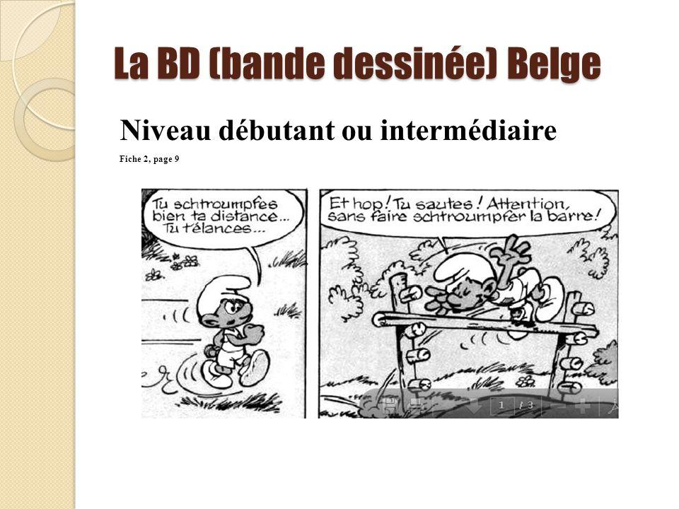 La BD (bande dessinée) Belge Niveau débutant ou intermédiaire Fiche 2, page 9