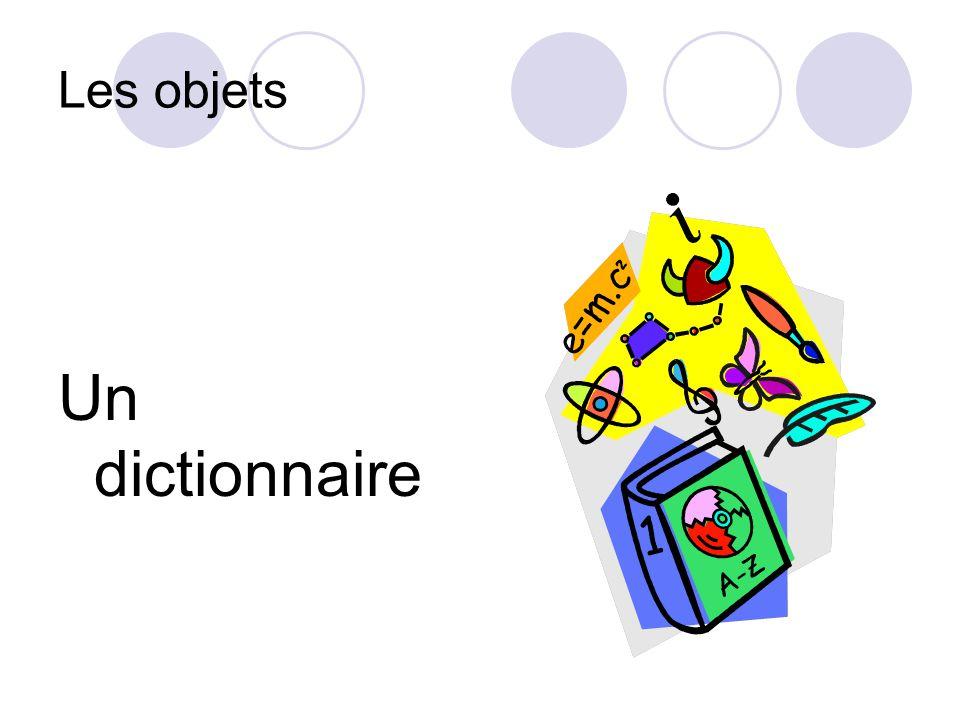 Les objets Un dictionnaire