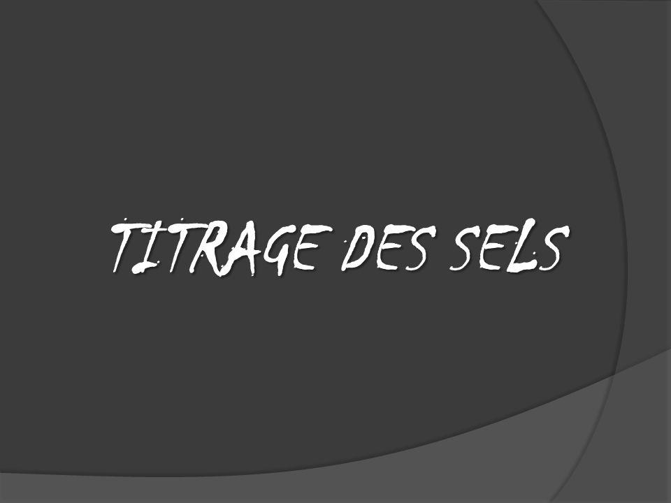 TITRAGE DES SELS