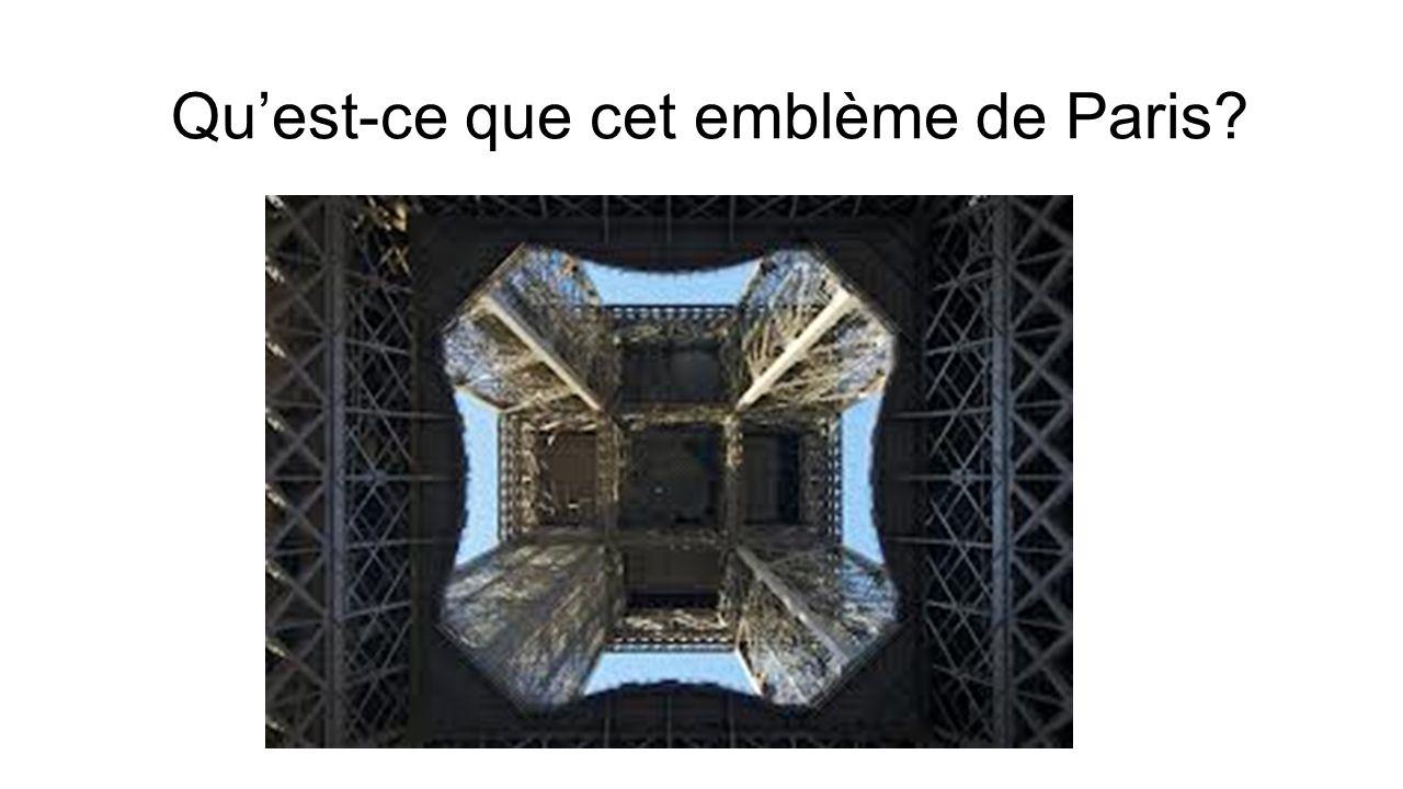Quest-ce que cet emblème de Paris?