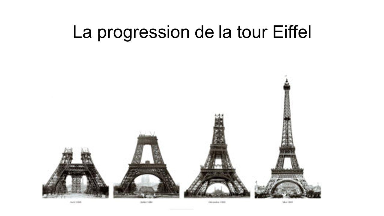 La progression de la tour Eiffel