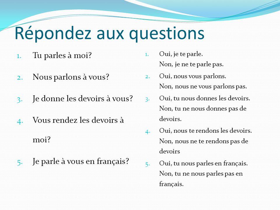 Remplacer un nom le __________ la __________ les _________ Jai le livre (de français).