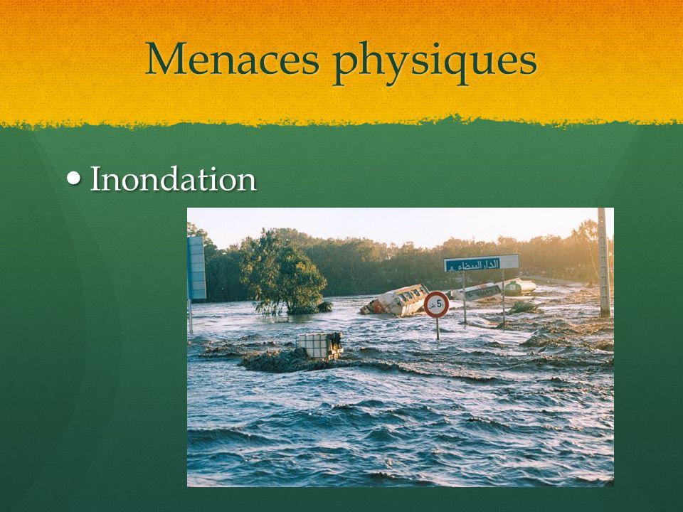 Menaces physiques Inondation Inondation