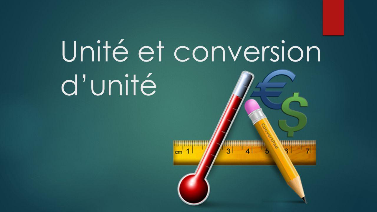 Unité et conversion dunité