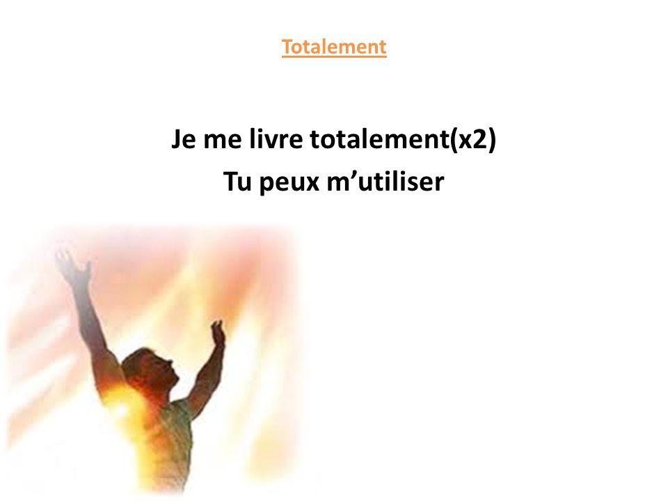 Me voici, devant toi Ma vie est entre tes mains Je veux voir tes désirs se révéler en moi seigneur