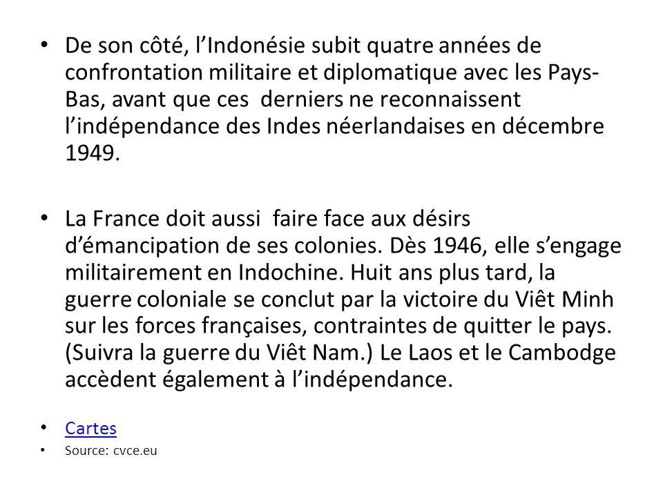 La décolonisation de lAfrique (1955-1975) Cest à partir de la conférence de Bandoeng et de la crise de Suez que se développe la deuxième phase de la décolonisation qui se situe principalement en Afrique.