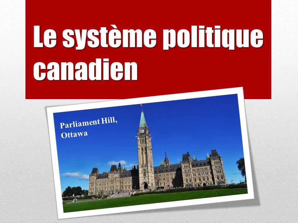 Le système politique canadien Parliament Hill, Ottawa