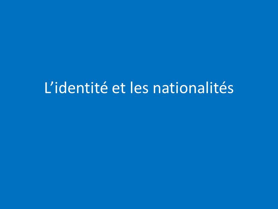 Lidentité et les nationalités