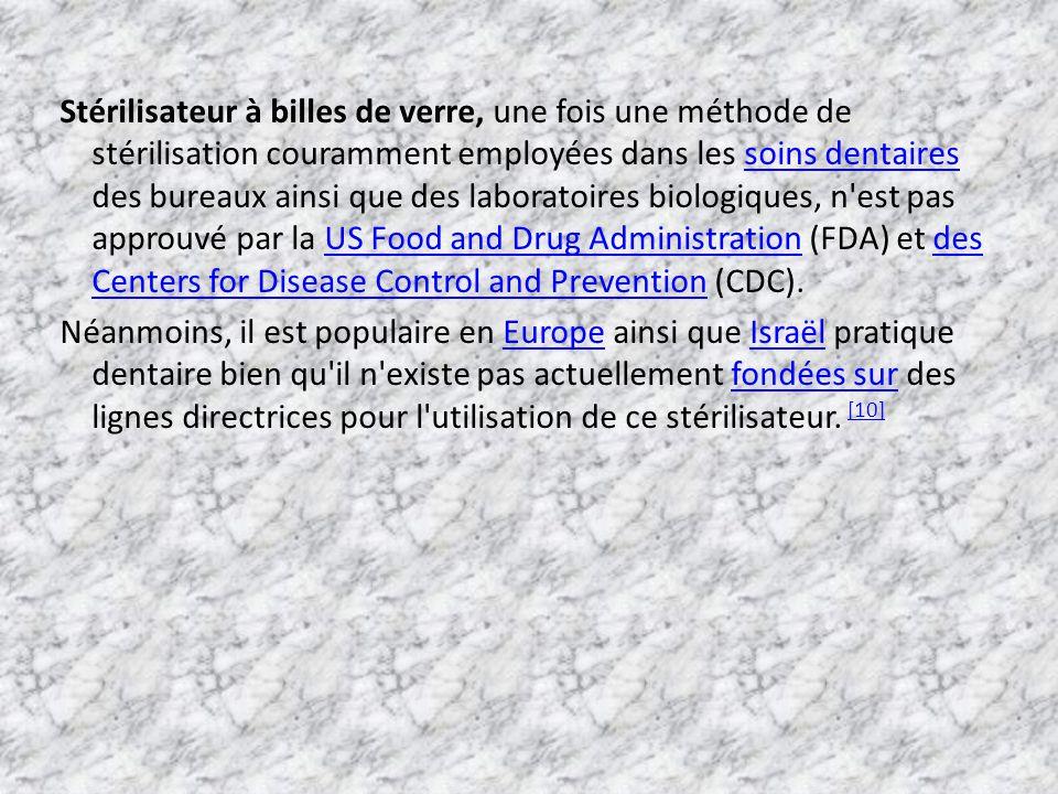 Stérilisateur à billes de verre, une fois une méthode de stérilisation couramment employées dans les soins dentaires des bureaux ainsi que des laborat