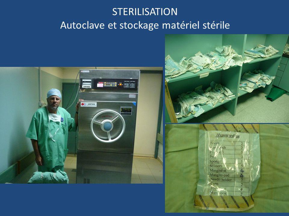 29 STERILISATION Autoclave et stockage matériel stérile