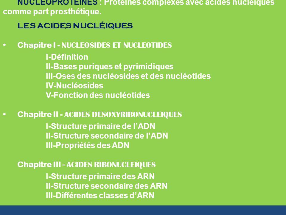 NUCLEOPROTEINES : Protéines complexes avec acides nucléiques comme part prosthétique.