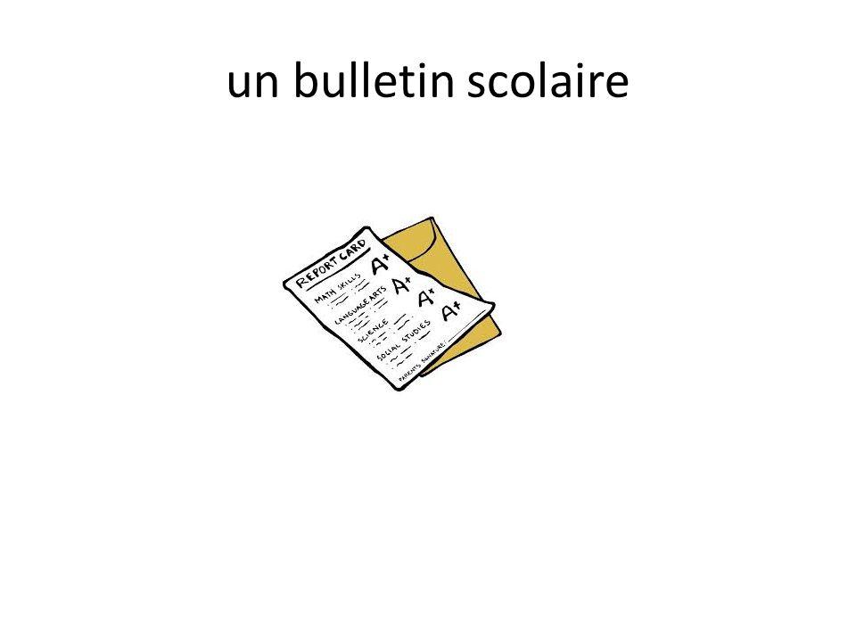 un bulletin scolaire