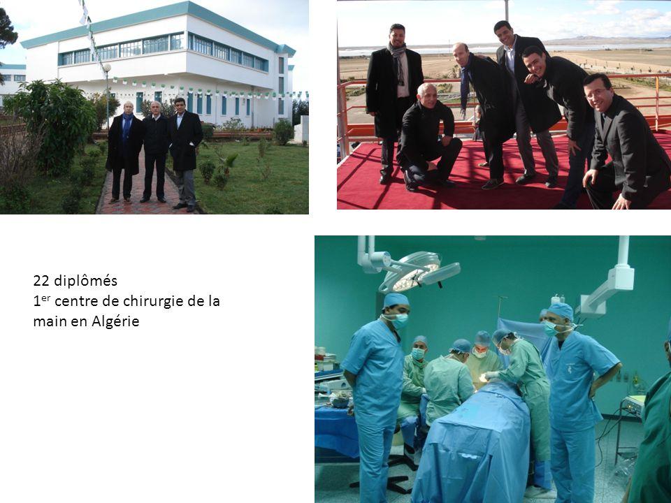 22 diplômés 1 er centre de chirurgie de la main en Algérie