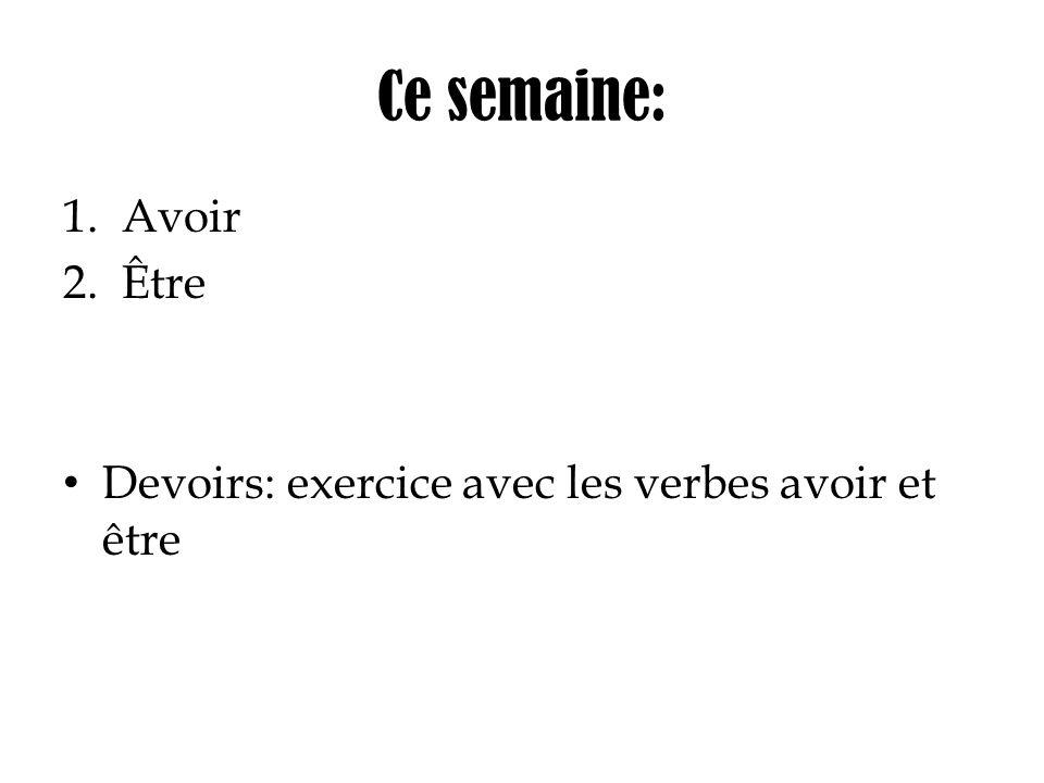 Semaine 02: mardi Grammaire