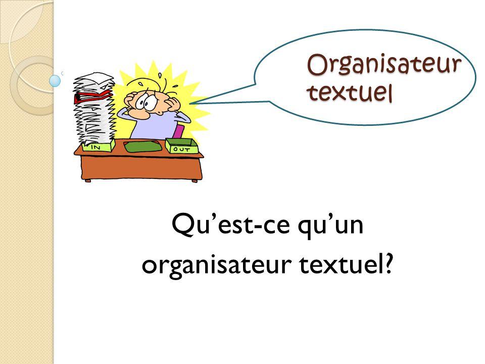 Organisateur textuel Quest-ce quun organisateur textuel?