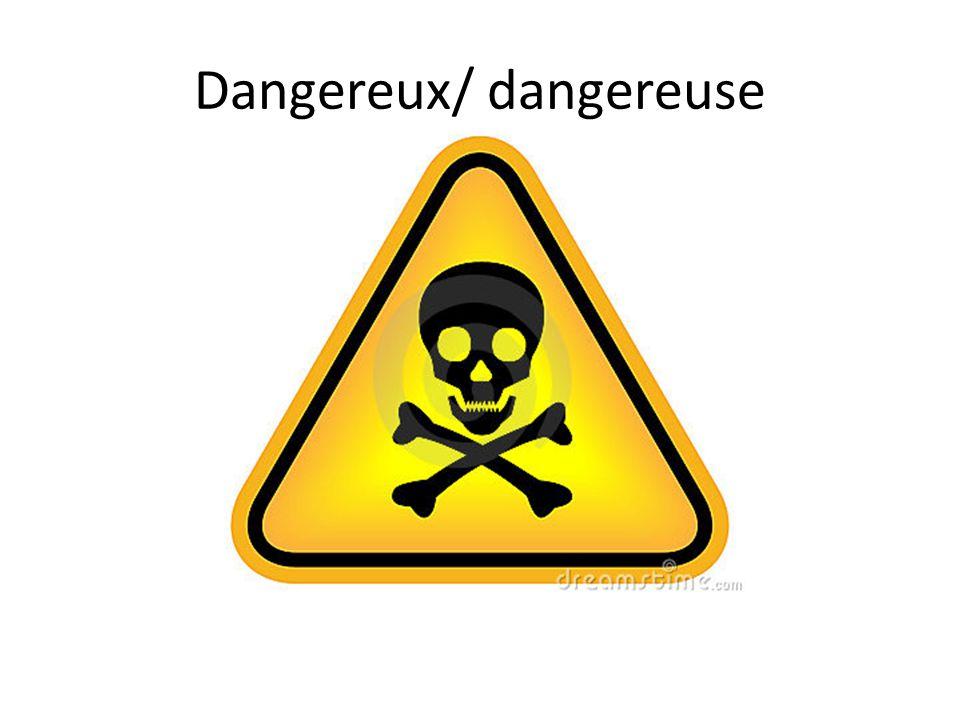 Dangereux/ dangereuse