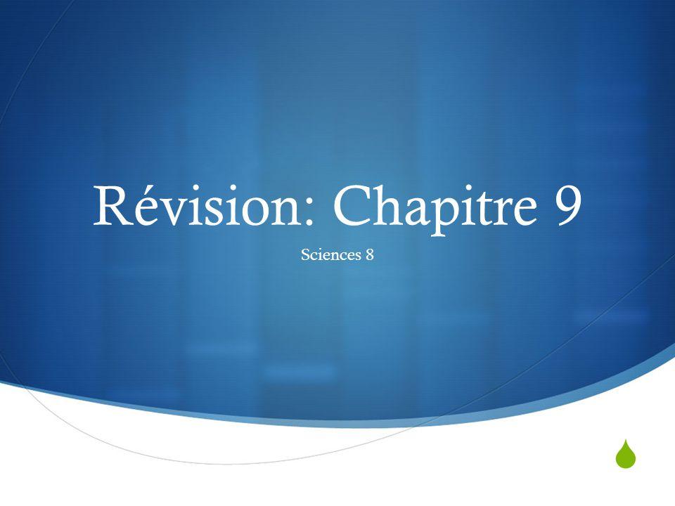 Révision: Chapitre 9 Sciences 8