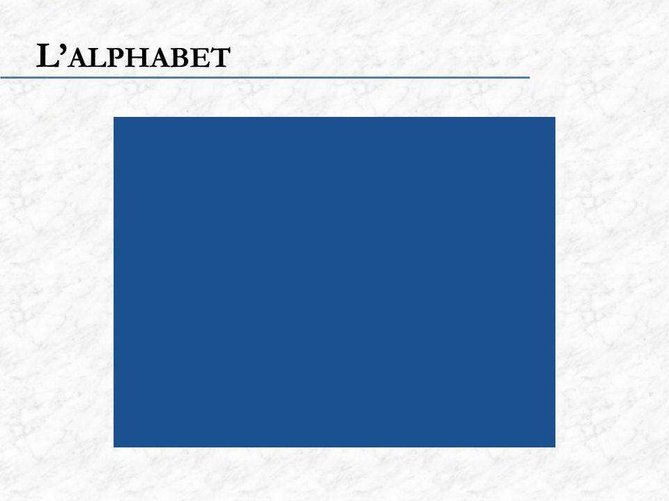 L ALPHABET