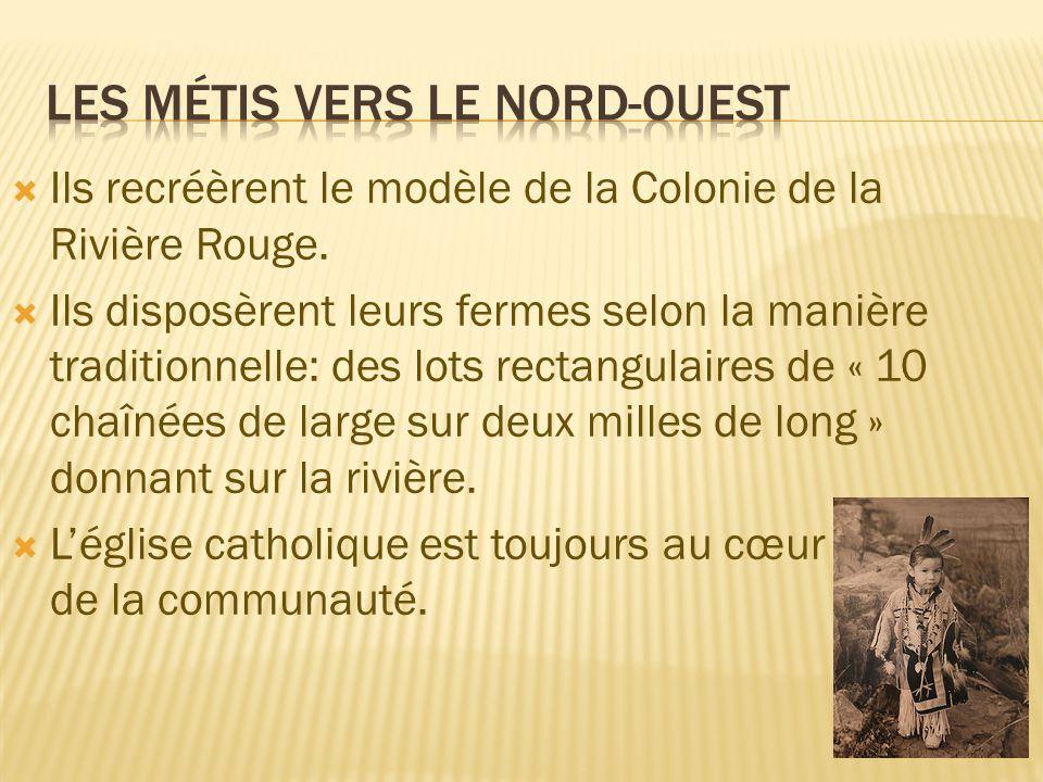 Les Métis tiraient leurs revenues des trois sources: La culture des denrées de base La chasse au bison Le transport pour la CBH