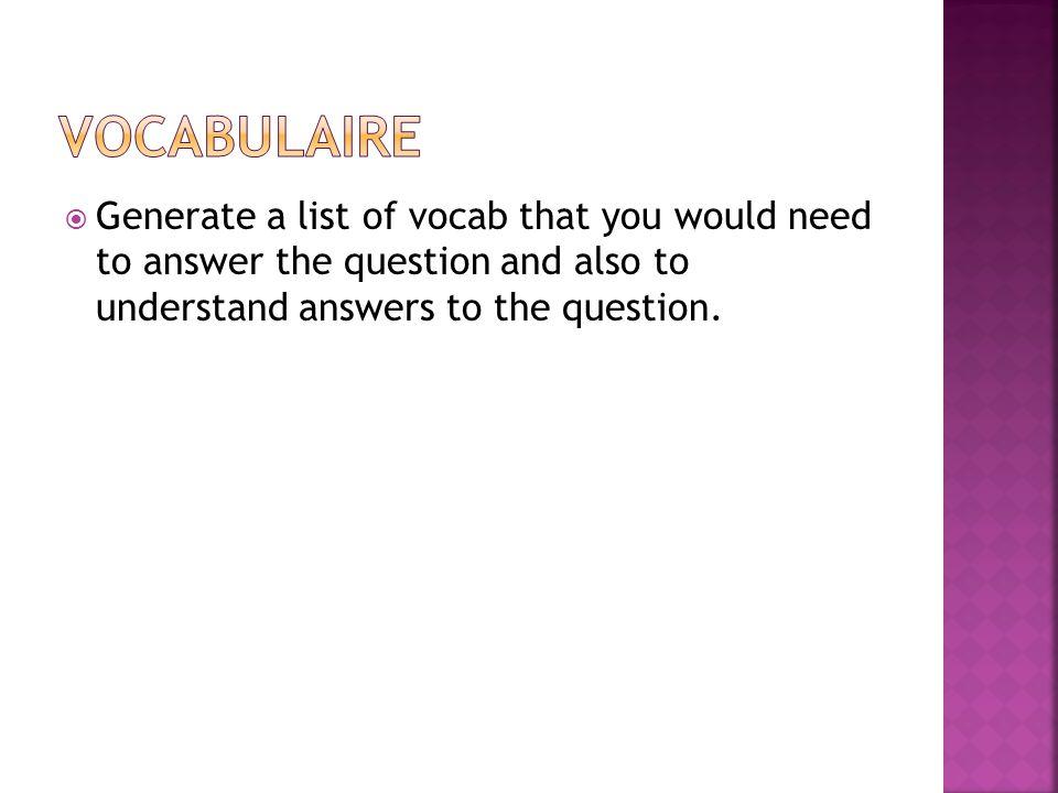Posez des questions pour trouver linformation suivante de votre partenaire.