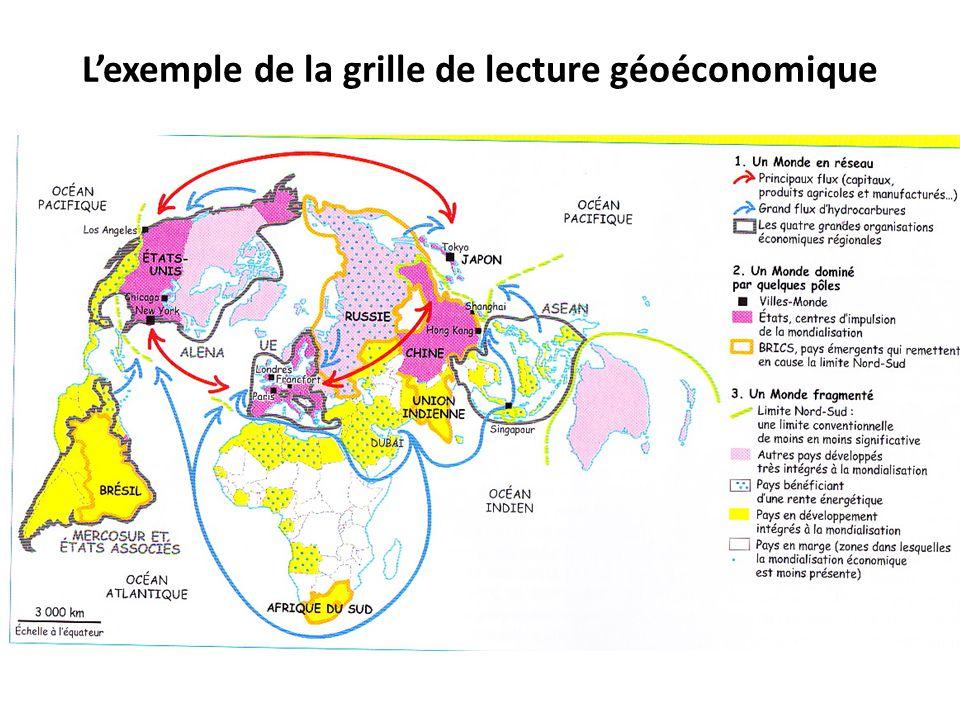 Lexemple de la grille de lecture géoéconomique