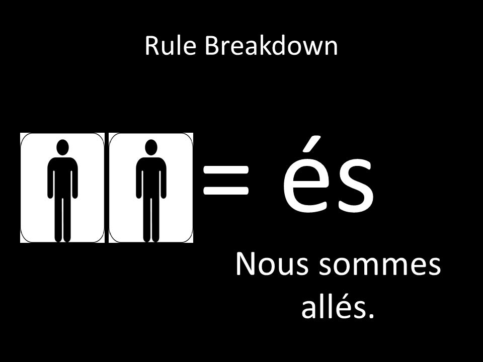 Rule Breakdown = és Nous sommes allés.