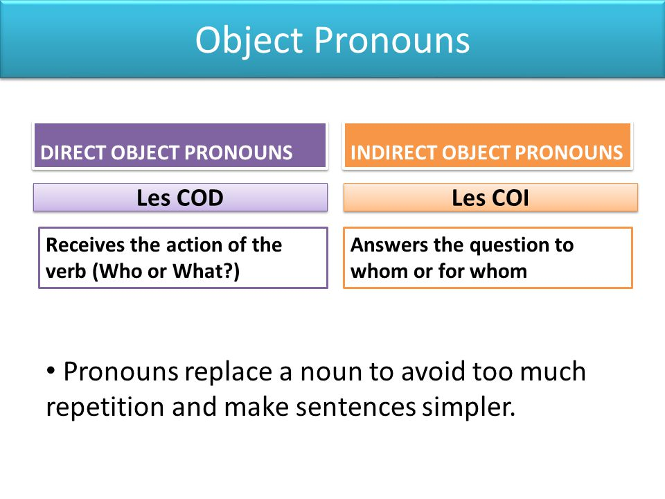 Si on les utilise dans limpératif For affirmative commands (positive) then give the command first, followed by the pronouns, with the direct object always coming before the indirect object.