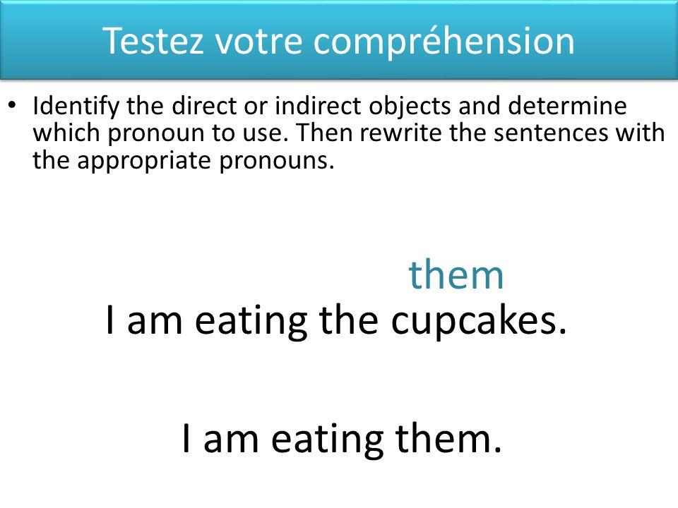 Dans le passé composé Identify the direct and indirect object pronouns as normal.