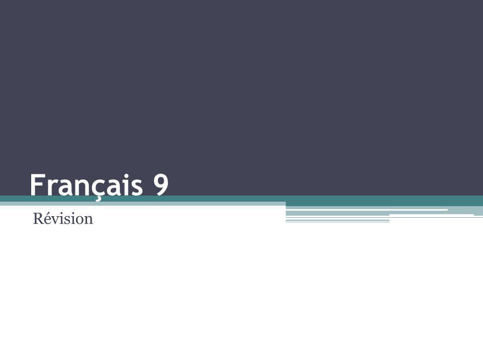 Français 9 Révision