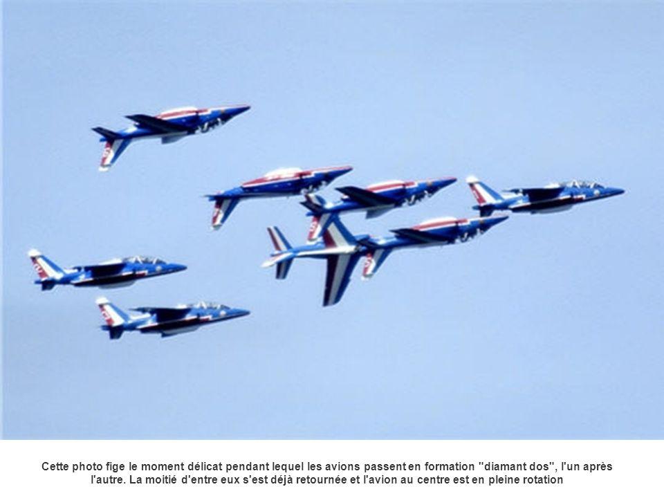 Cette photo fige le moment délicat pendant lequel les avions passent en formation
