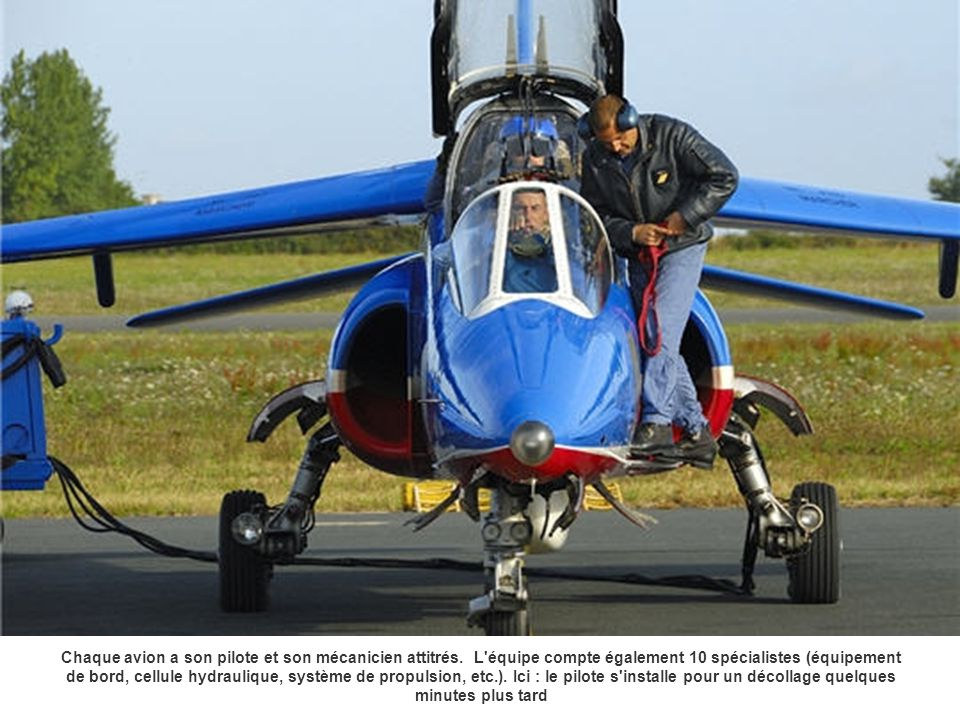 Chaque avion a son pilote et son mécanicien attitrés. L'équipe compte également 10 spécialistes (équipement de bord, cellule hydraulique, système de p