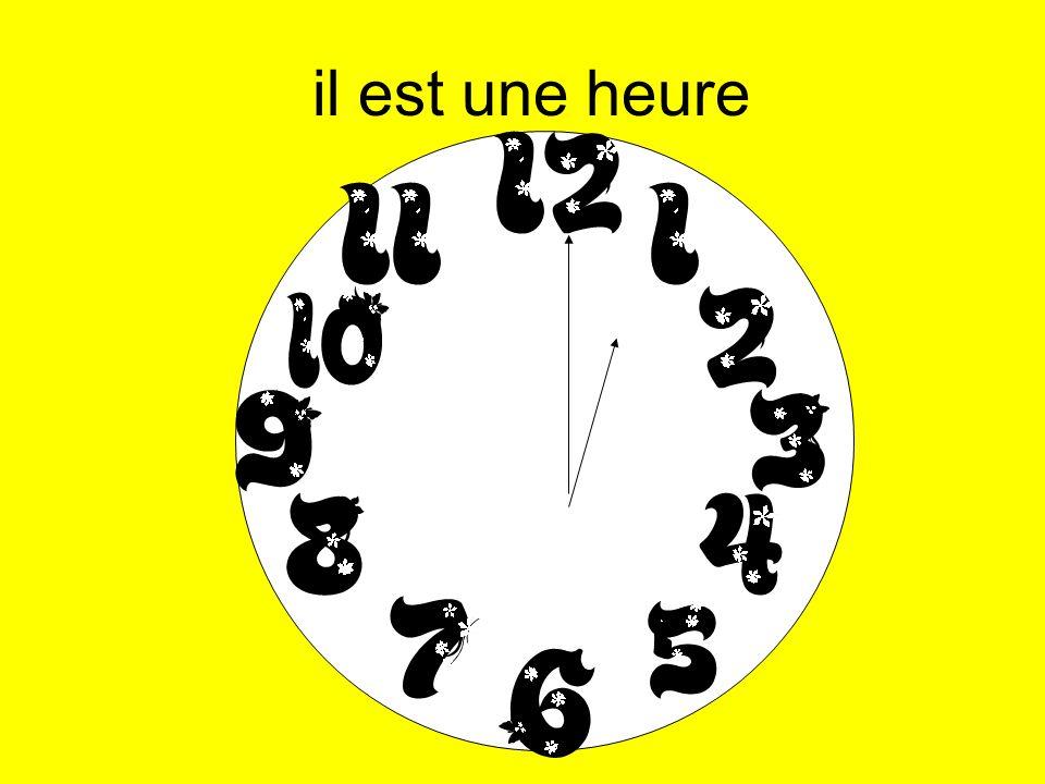 9:00pm - il est vingt-une heures 11:00pm - il est vingt-trois heures 11:51pm - il est minuit moins neuf 6:18pm - il est dix-huit heures dix-huit 3:00pm - il est quinze heure 3:00pm - il est quinze heures