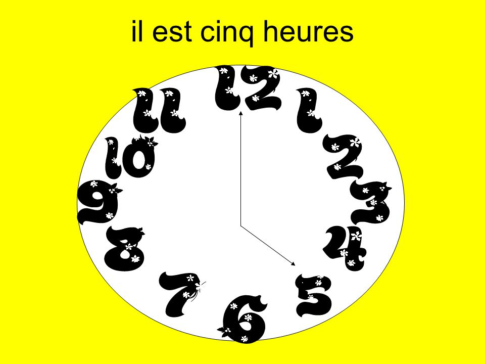 il est onze heures moins six il est vingt-trois heures moins six