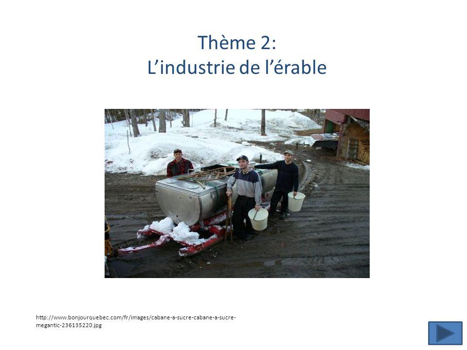 Thème 2: Lindustrie de lérable http://www.bonjourquebec.com/fr/images/cabane-a-sucre-cabane-a-sucre- megantic-236135220.jpg