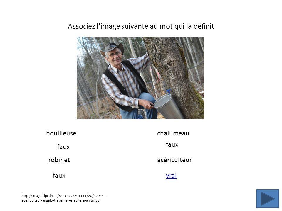 Associez limage suivante au mot qui la définit http://images.lpcdn.ca/641x427/201111/20/429441- acericulteur-angelo-trepanier-erabliere-anita.jpg boui